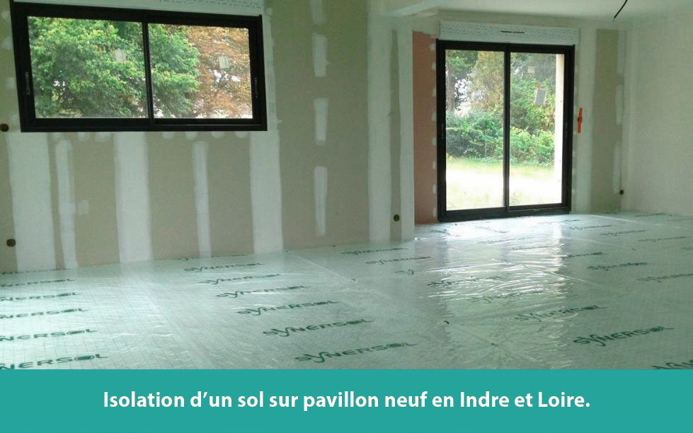 Isolation d'un sol sur pavillon